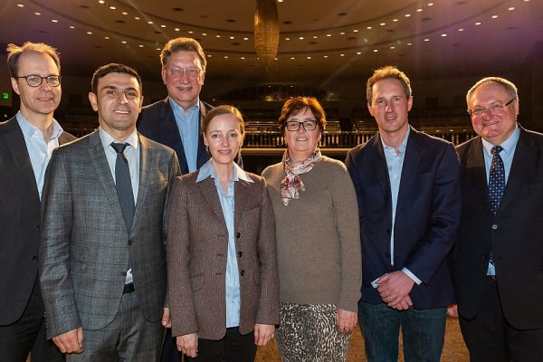 v.l.: R. Klamroth, C. Ay, W. Korte, C. von Auer, M. Albisetti, F. Langer, J. Oldenburg, Foto: T. Ecke, Berlin