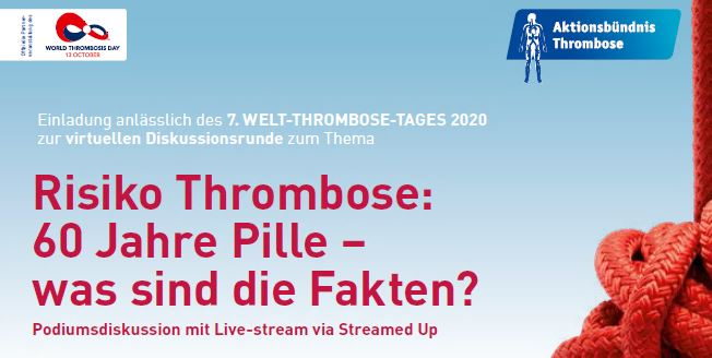 Diskussionsrunde zum 7. WELT-THROMBOSE-TAG 2020